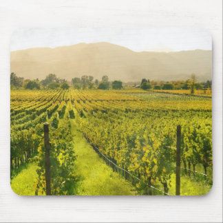 Vineyard in Autumn in Napa Valley California Mouse Pad