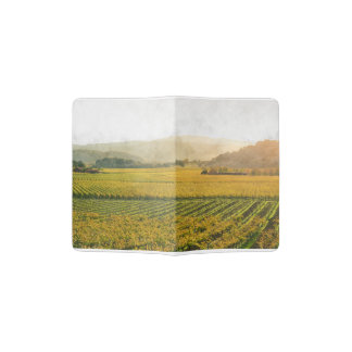 Vineyard in Autumn in Napa Valley California Passport Holder