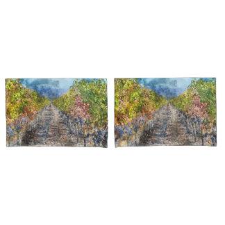 Vineyard in Autumn in Napa Valley California Pillowcase