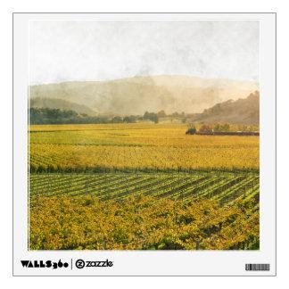 Vineyard in Autumn in Napa Valley California Wall Decal