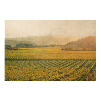 Vineyard in Autumn in Napa Valley California Wood Wall Decor
