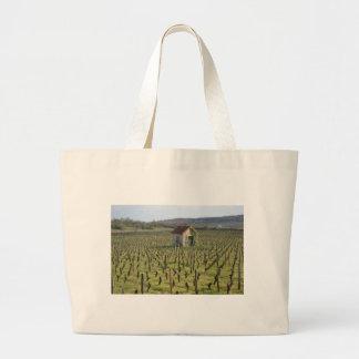 vineyard in Burgundy France Large Tote Bag