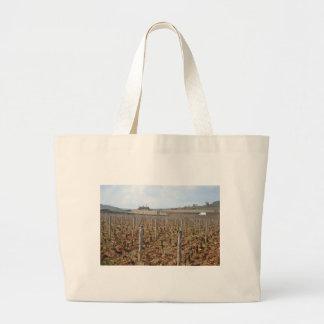 vineyard in Burgundy France meursault côte-d'or Large Tote Bag