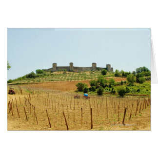 Vineyard in front of a fort, Monteriggioni, Card