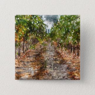 Vineyard in Napa Valley California 2 Inch Square Button