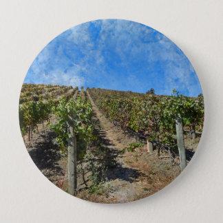 Vineyard in Napa Valley California 4 Inch Round Button