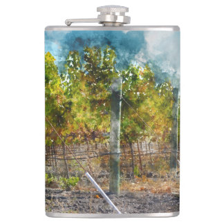 Vineyard in Napa Valley California Flask