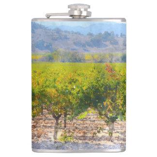 Vineyard in Napa Valley California Flasks