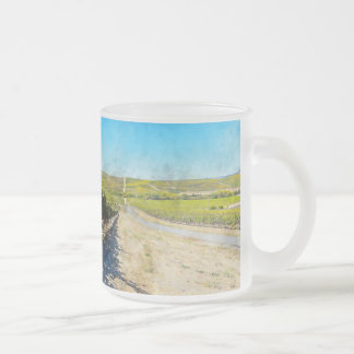 Vineyard in Napa Valley California Frosted Glass Coffee Mug