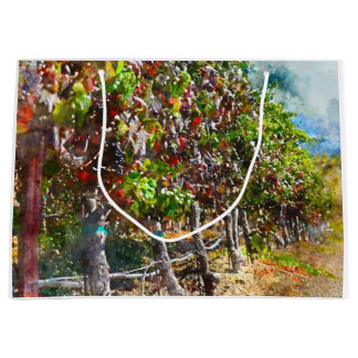 Vineyard in Napa Valley California Large Gift Bag