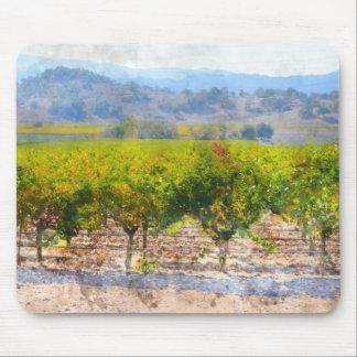 Vineyard in Napa Valley California Mouse Pad