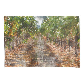 Vineyard in Napa Valley California Pillowcase