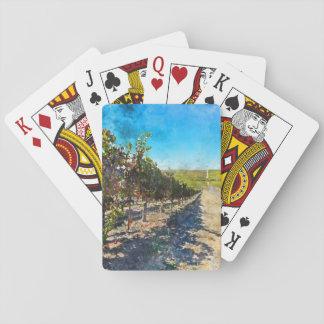 Vineyard in Napa Valley California Playing Cards