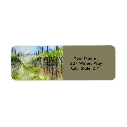Vineyard in Napa Valley California Return Address Label