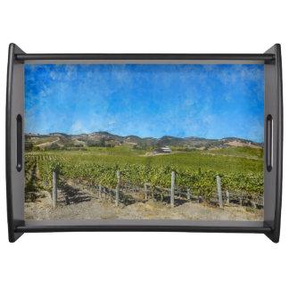 Vineyard in Napa Valley California Serving Tray