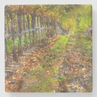 Vineyard in Napa Valley California Stone Coaster