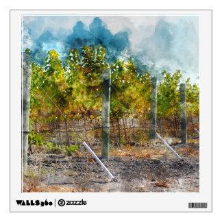 Vineyard in Napa Valley California Wall Decal