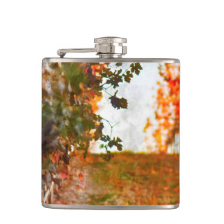 Vineyard in Napa Valley during Fall Flasks