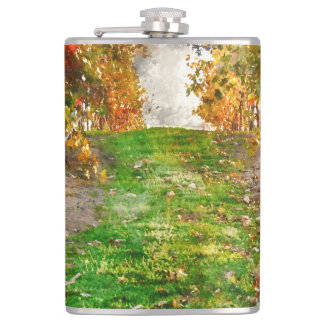 Vineyard in Napa Valley during Fall Hip Flask