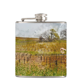 Vineyard in Napa Valley Flask