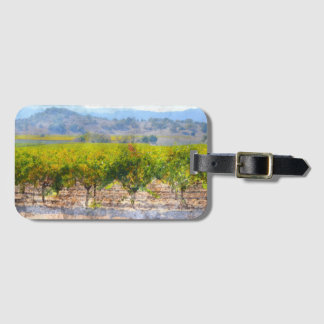 Vineyard in Napa Valley Luggage Tag