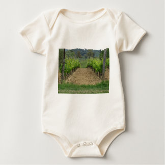 Vineyard in spring . Tuscany, Italy Baby Bodysuit