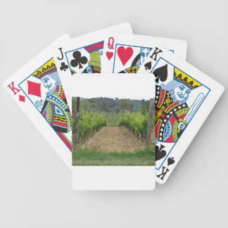 Vineyard in spring . Tuscany, Italy Bicycle Playing Cards