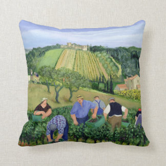 Vineyard Olives and Sunflowers Throw Pillow
