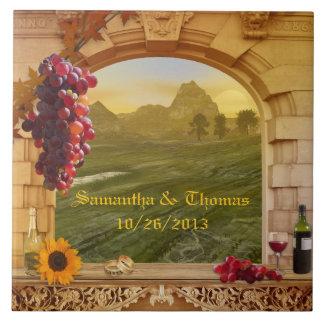 Vineyard or Wine Theme Wedding Photo Tile