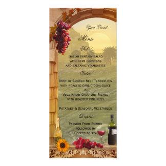 Vineyard or Wine Themed Menu Card