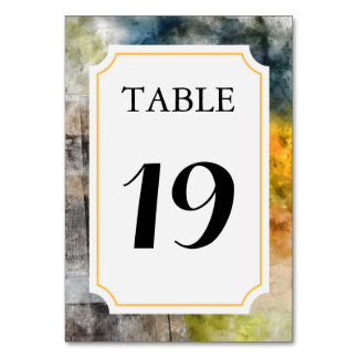 Vineyard or Winery Wedding Table Number Card