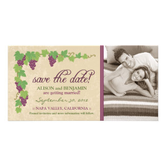 Vineyard Save the Date Announcement (Parchment) Card