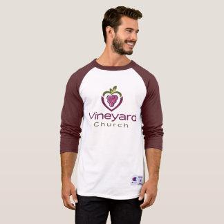 Vineyard Stacked Logo on White T-Shirt