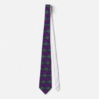 Vineyard Tile Tie - Deep Purple & Green