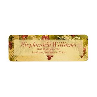Vineyard Wedding Return Address Label