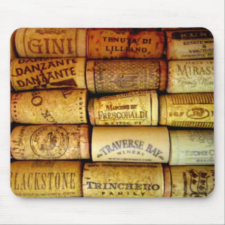 Vineyard Wine Corks Mouse Pad