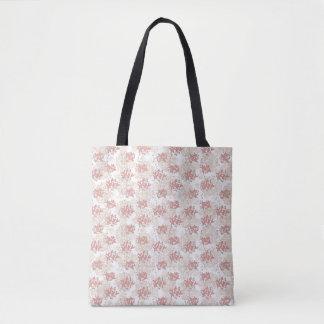 Vingtage Romantic Flower Tote Bag
