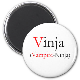 Vinja - Vampire Ninja 2 Inch Round Magnet