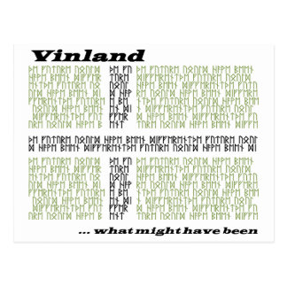 Vinland Runic Flag - What Might Have Been Postcard