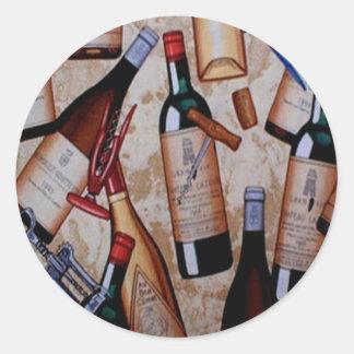 Vino Classic Round Sticker