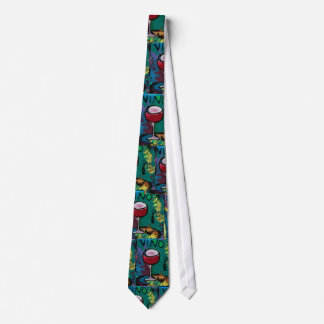 VINO  Red Wine  Large Print Tie