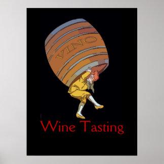 Vino Wine Barrel Edit Poster