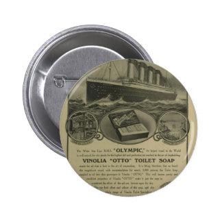 Vinolia Otto Toilet Soap advert 2 Inch Round Button