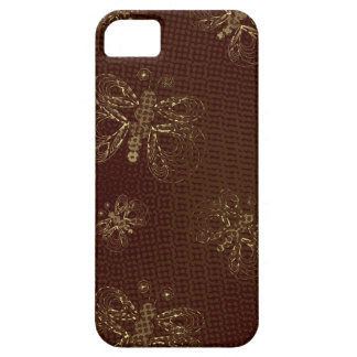 Vinous retro butterfly pattern with halftones iPhone 5 cover
