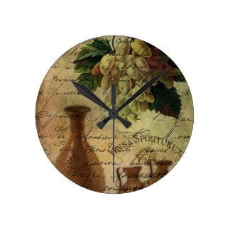 Vins Spiritueux, Nectar of the Gods Wall Clocks