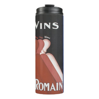 """Vins"" vintage wine poster ad ""Camp Romain"" Thermal Tumbler"