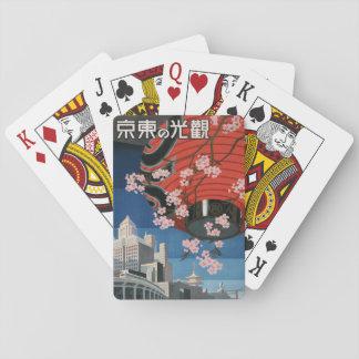 Vintage1930s Tokyo Japan TravelPoster Playing Card