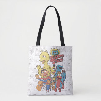 Vintage 123 Sesame Street Tote Bag