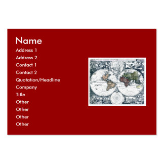 Vintage 1658 Nicolao Visscher World Map Business Card Templates