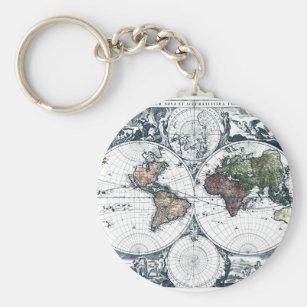 World map keychains key rings zazzle ca vintage 1658 nicolao visscher world map keychain gumiabroncs Gallery